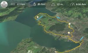 Meine 2:11 Stunden Halbmarathon 2017 als Zeitraffer.